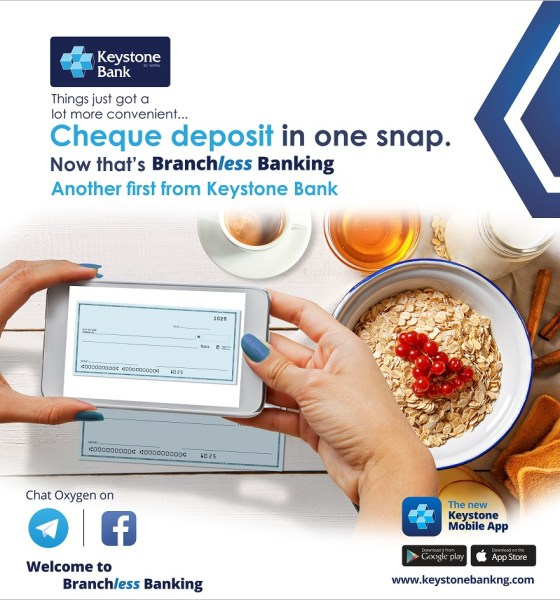 Keystone Bank Adds 'Cheque Deposit' Feature to Mobile App