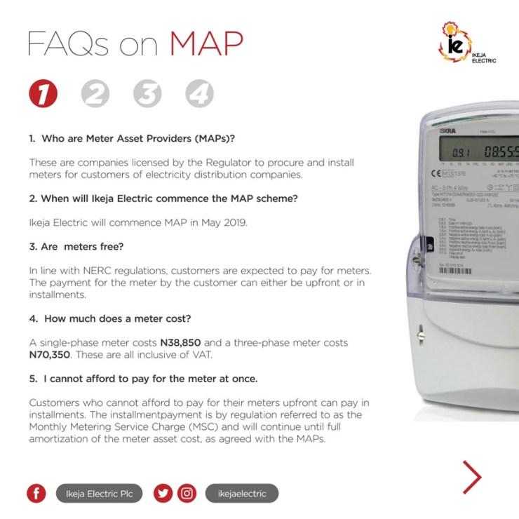 Ikeja Electric Explains How to Get Prepaid Metres via MAP