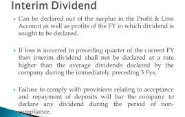interim dividend