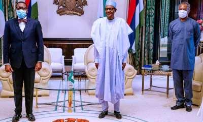 AfDB Adesina with Buhari