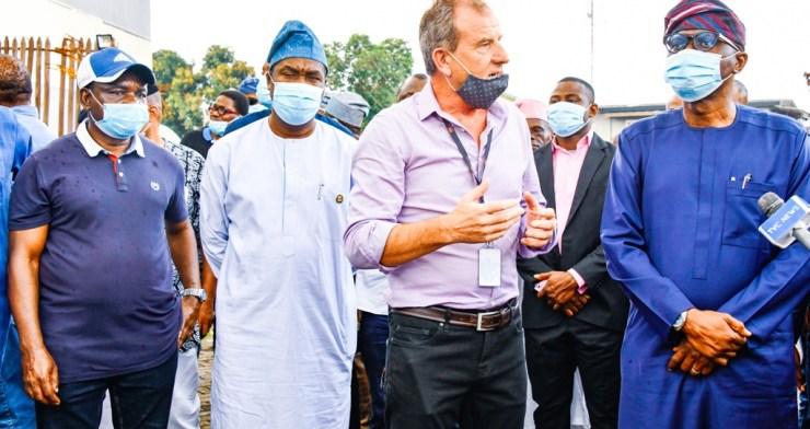 Sanwo Olu Visits TVC