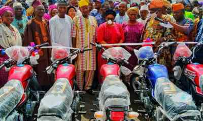 Akande-Sadipe and others commissioning the bikes