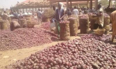 onions at Lagos Markets
