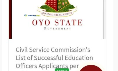 Oyo civil service commission Conversion Exercise