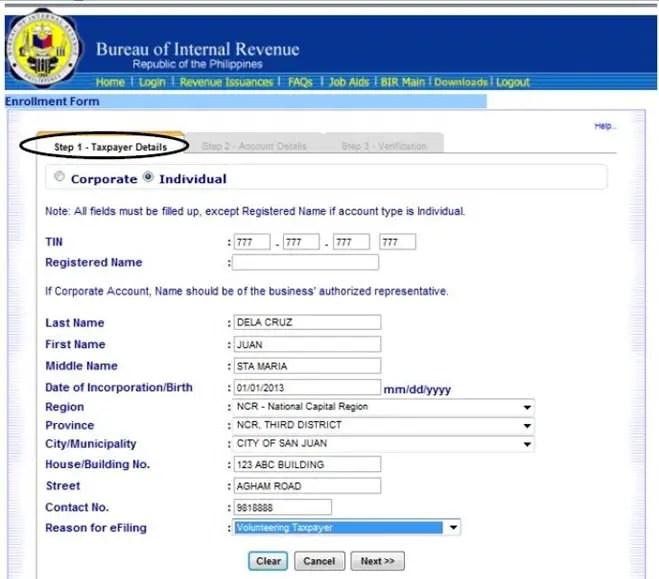 Application letter for enrollment