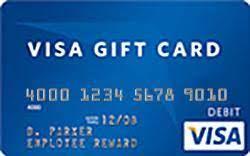 Visa check card gift