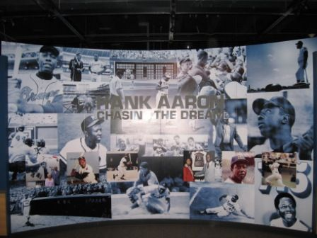 They had an excellent new exhibit on Hank Aaron.