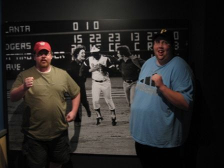 Chris and I wanted to know what it felt like to chase Hammerin' Hank around the bases.
