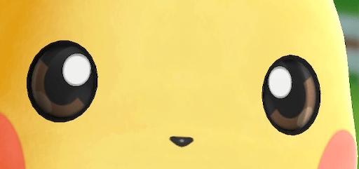 ピカチュウの目