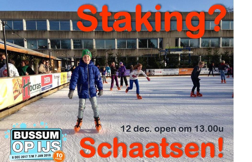 Gaan de leraren staken? Kom dan schaatsen!