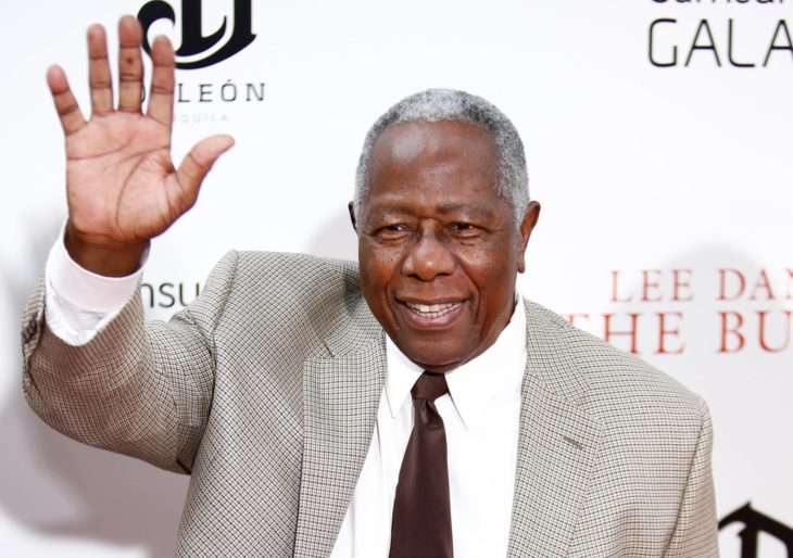 "NEW YORK-AUG 5: Baseball player Hank Aaron attends the premiere of Lee Daniels' ""The Butler"" at the Ziegfeld Theatre on August 5, 2013 in New York City."