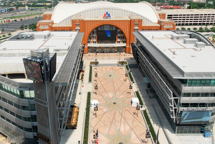 Dallas - May 13, 2007: The American Airlines Center is a multi-purpose arena, located in the Victory Park neighborhood, near downtown Dallas, Texas.