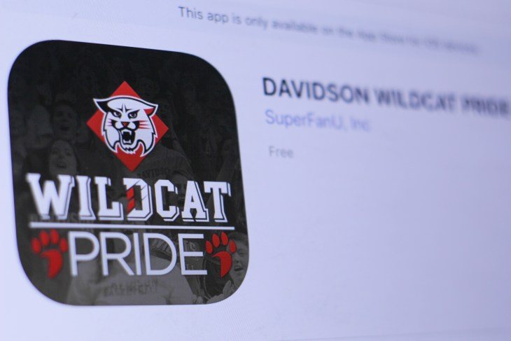 JEMBER, EAST JAVA, INDONESIA, JULY 21, 2018. DAVIDSON WILDCAT PRIDE app in play store. close-up on the laptop screen.