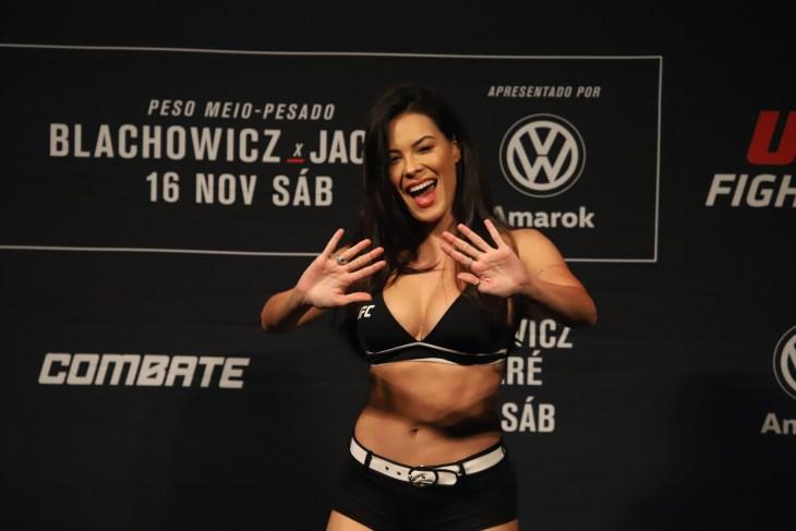 São Paulo, São Paulo, Brazil, November 16, 2019. UFC Fight Night - Jan Blachowicz x Ronaldo Jacaré. Camila Oliveira