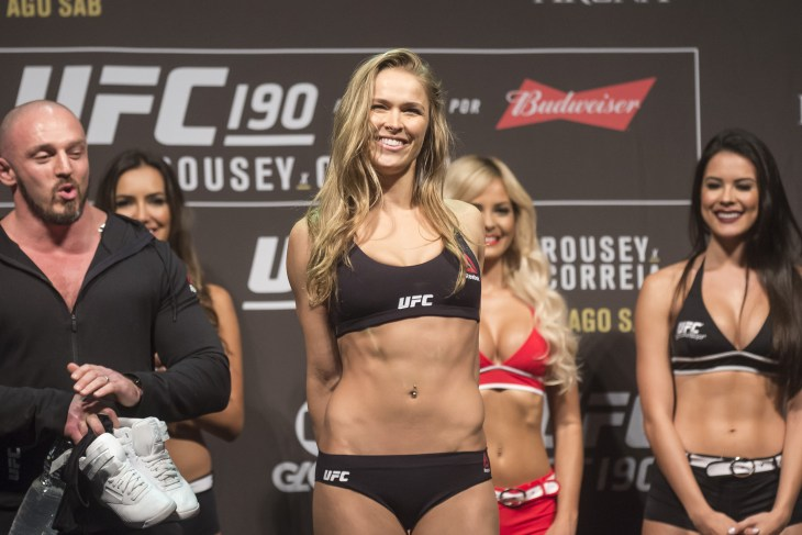 Rio de Janeiro, Brazil, 31 JULY 2015, The fighter Ronda Rousey during weighing UFC 190