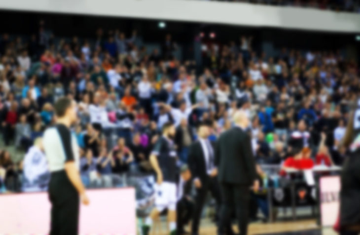 blurred crowd during a basketball game