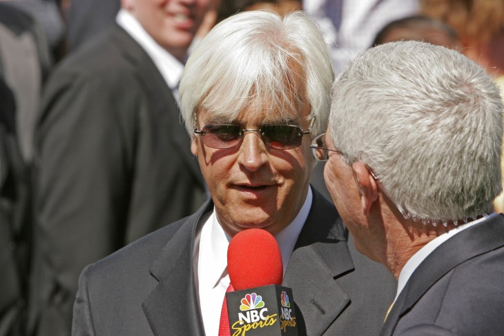 ARCADIA, CA - APR 4: Thoroughbred trainer Bob Baffert is interviewed at Santa Anita Park April 4, 2009 in Arcadia, CA. Baffert was elected to the Racing Hall of Fame on April 20th.