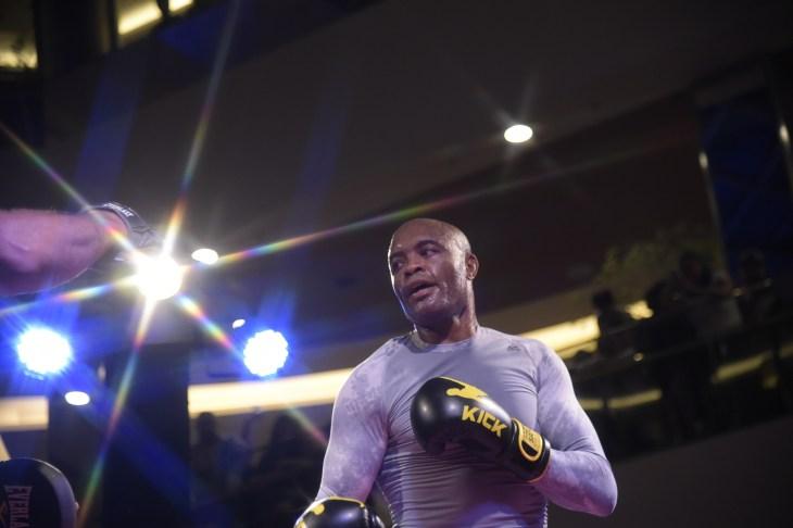 Rio de Janeiro -Brazil, May 8, 2019, UFC fight training, Anderso Silva TRAINING ATHLETE