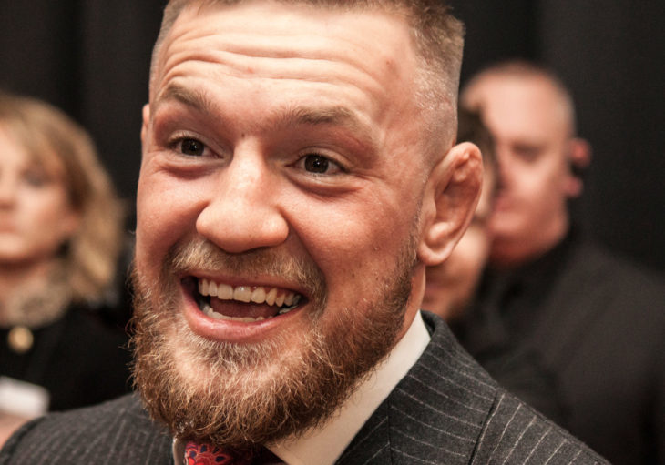 """DUBLIN, IRELAND - NOVEMBER 2017: UFC and MMA fighter, Conor """"The Notorious"""" McGregor at the Irish premiere of the documentary about his rise within the ranks of MMA fighting."""