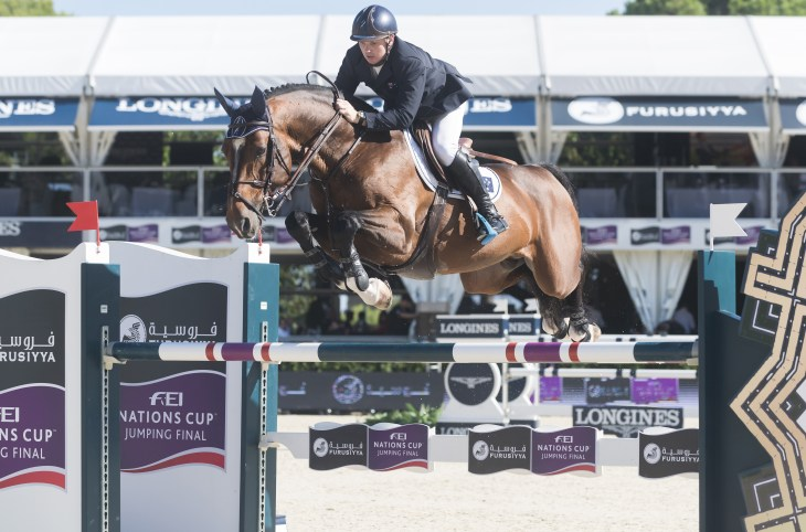 BARCELONA - SEPTEMBER 24: Jamie Kermond rider in action during the Furusiyya Nations Final Cup in Real Club Polo Barcelona, on September 24, 2015, Barcelona, Spain.