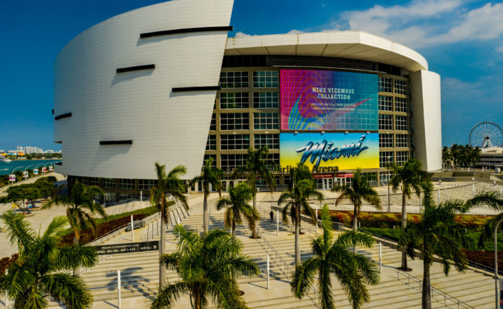 MIAMI, FL, USA - MARCH 26, 2020: American Airlines Arena home to the Miami Heat Basketball Team