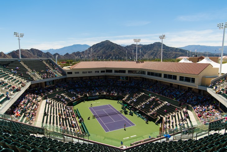 INDIAN WELLS, UNITED STATES - MARCH 14 : Ambiance inside Stadium 2 at the 2017 BNP Paribas Open WTA Premier Mandatory tennis tournament