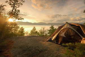 Camping-Near-The-Lake-Background-Wallpaper