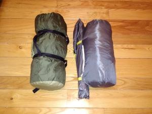 Quartdome (left), Sierra Designs Convert 2 (right).