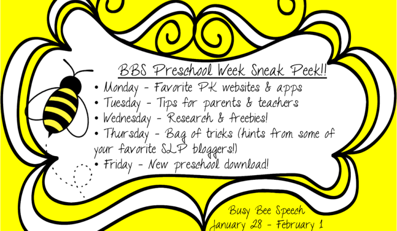 Preschool Week Sneak Peek!