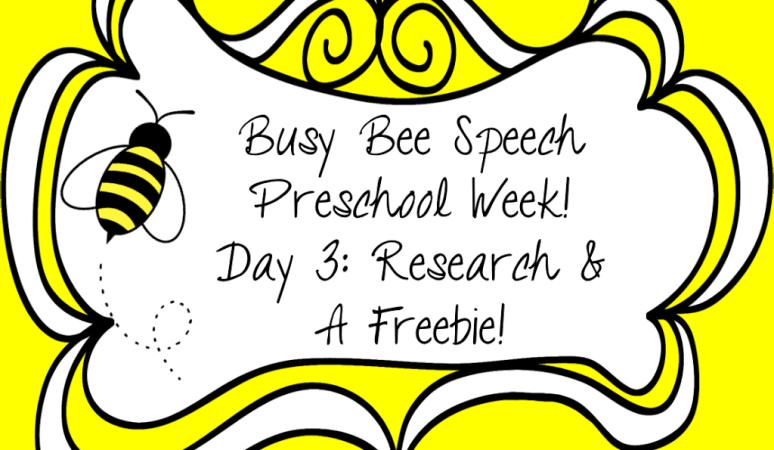 Preschool Week Day 3: Research & A Freebie!