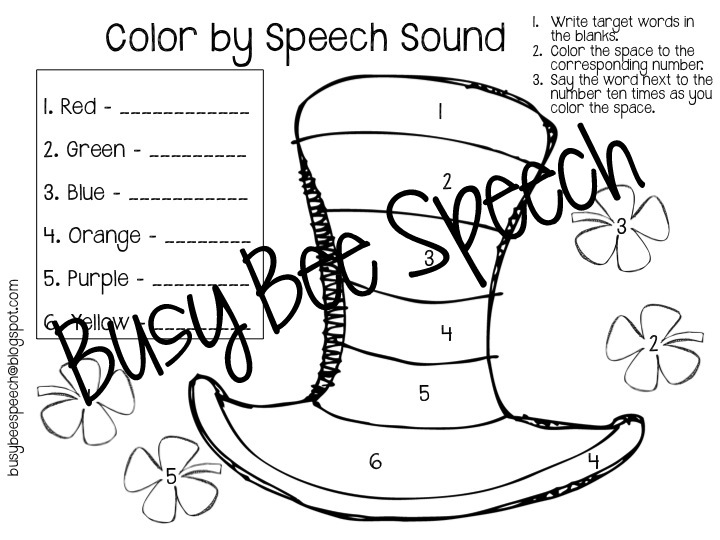 St Pattys Day Worksheets HW Packet Busy Bee Speech – S Sound Worksheets