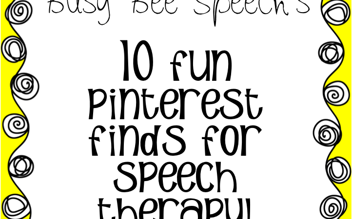 10 Fun Pinterest Finds for Speech