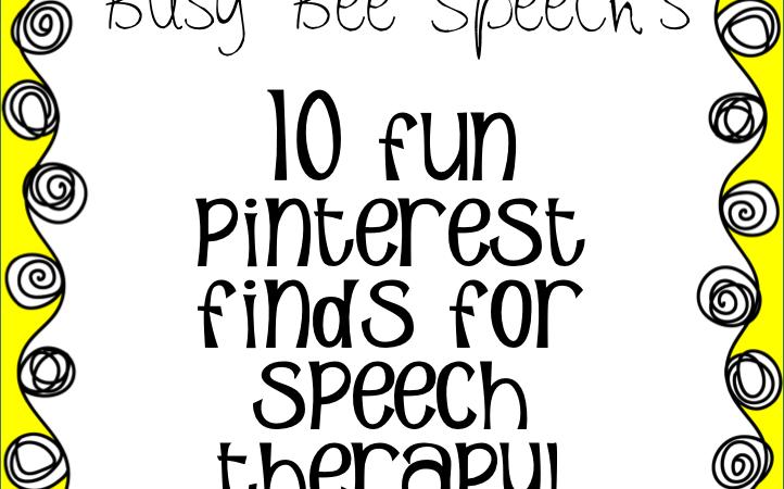 10 Fun Pinterest Finds for Speech