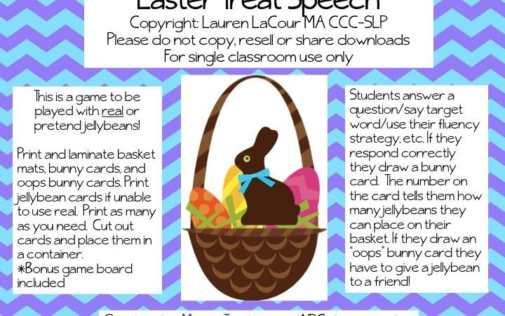 Easter Treat Speech FREEBIE!