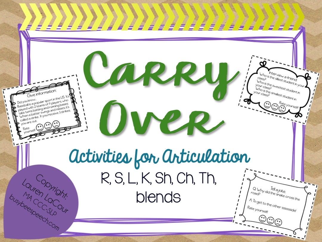 Workbooks r blend worksheets : Articulation Carry-Over Activities - Busy Bee Speech