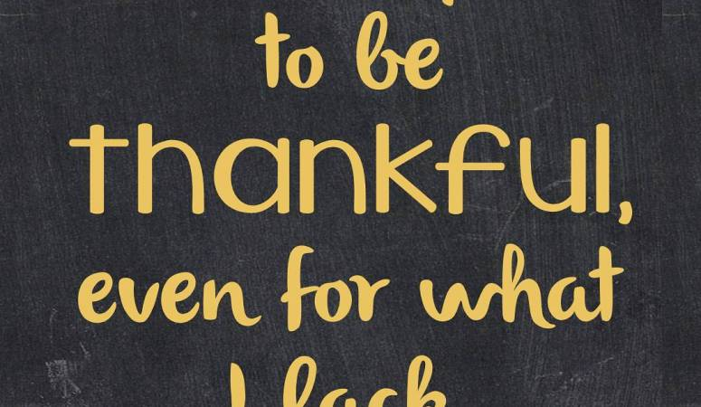 Today, I'm Thankful