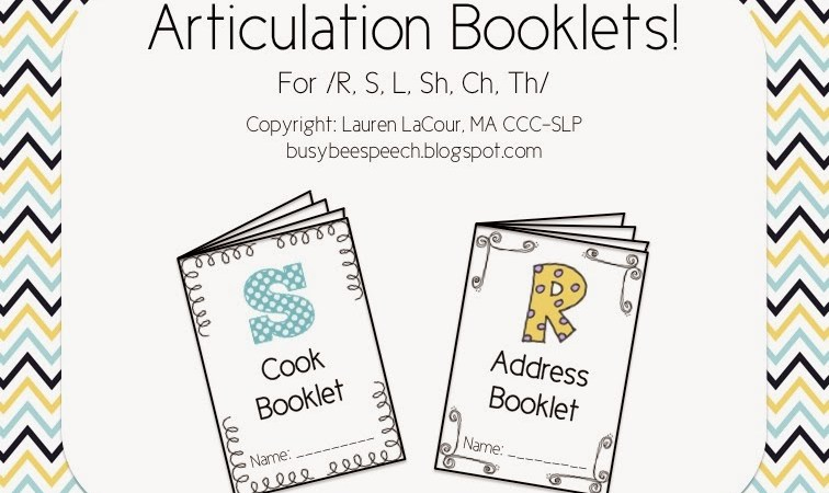Articulation Booklets! with a freebie and a giveaway!
