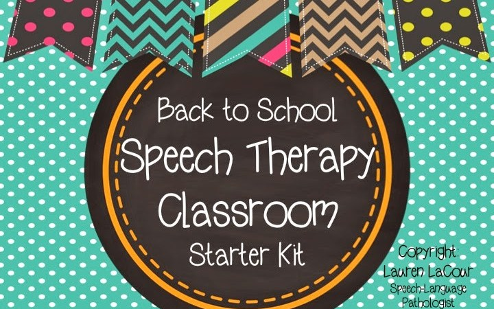 Back-To-School Speech Therapy Classroom Kit