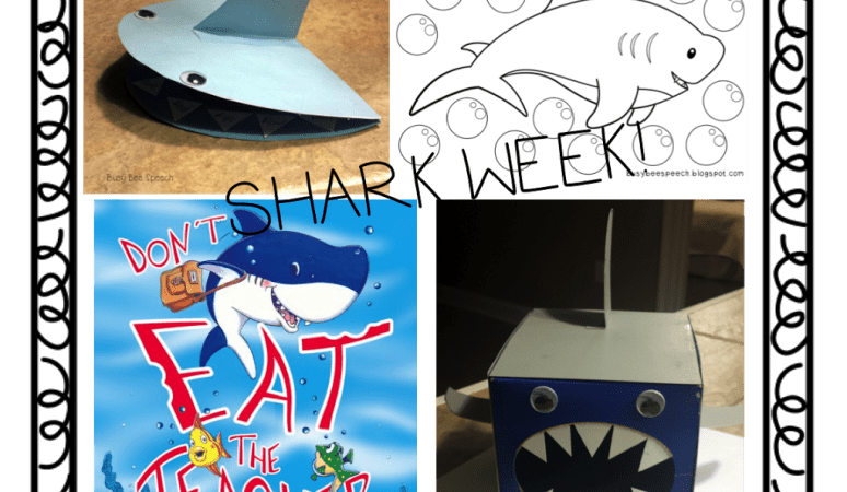 Shark Week in Speech with a {Freebie}