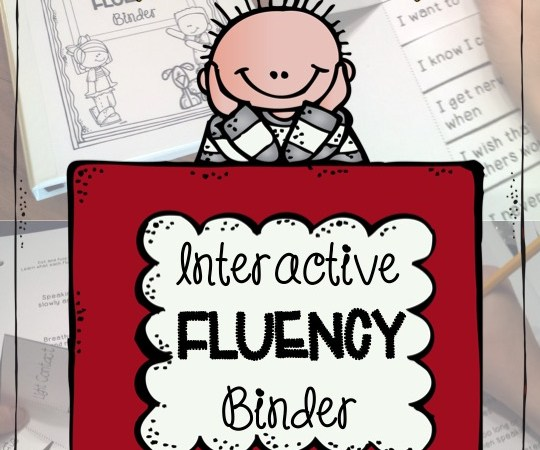 Interactive Fluency Binder for PRESCHOOL