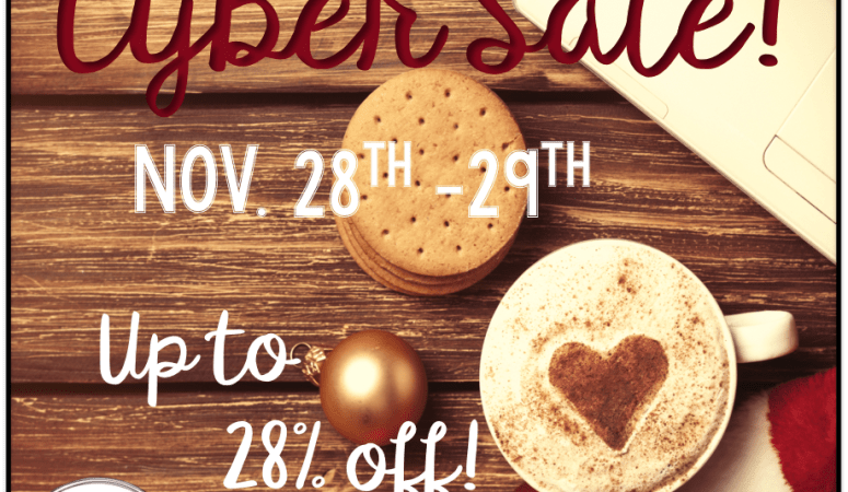 Cyber Monday Sale & Giveaway!