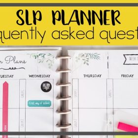 SLP Planner frequently asked questions