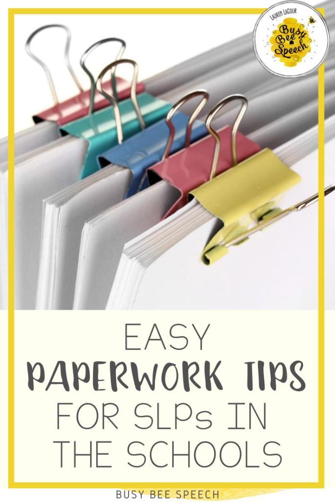 Easy Paperwork tip for SLPs in the Schools