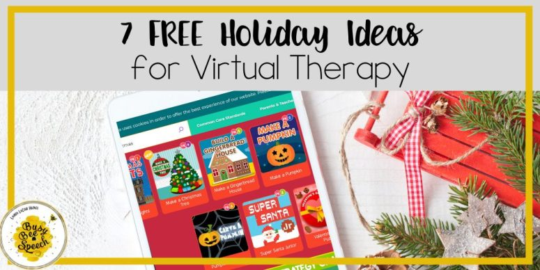 Free holiday ideas for speech teletherapy