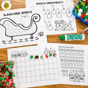 free holiday worksheets for speech therapy