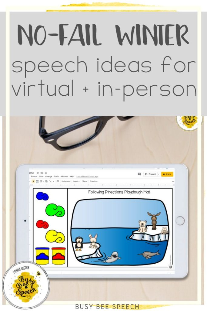 No fail winter speech ideas for virtual and in-person therapy