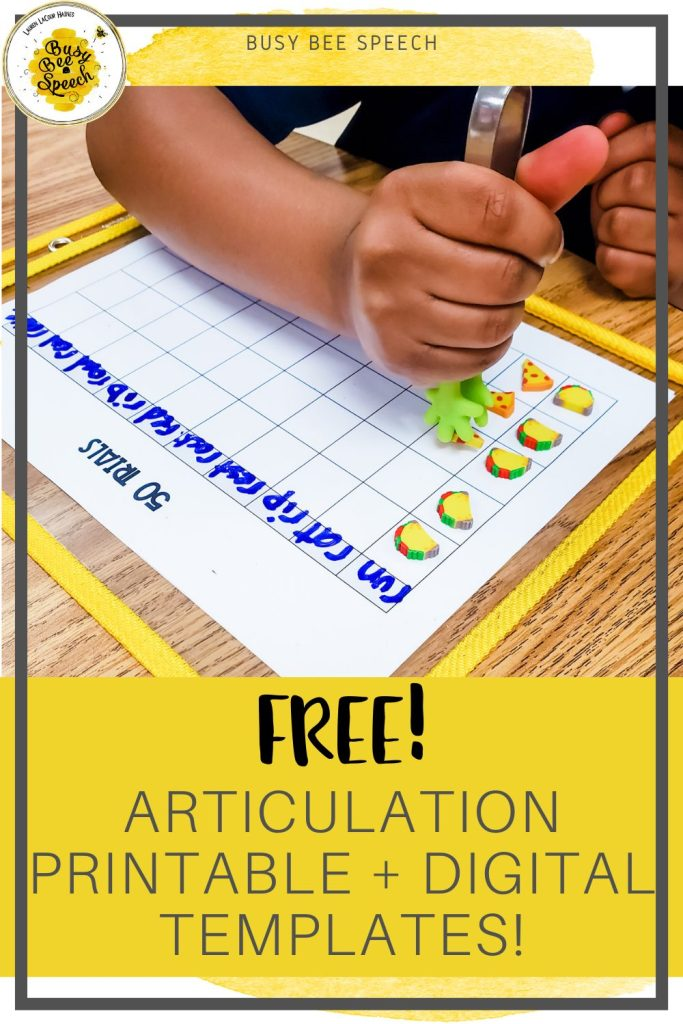 Free articulation printable and digital grid templates