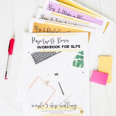 Paperwork boss workbook for school SLPs