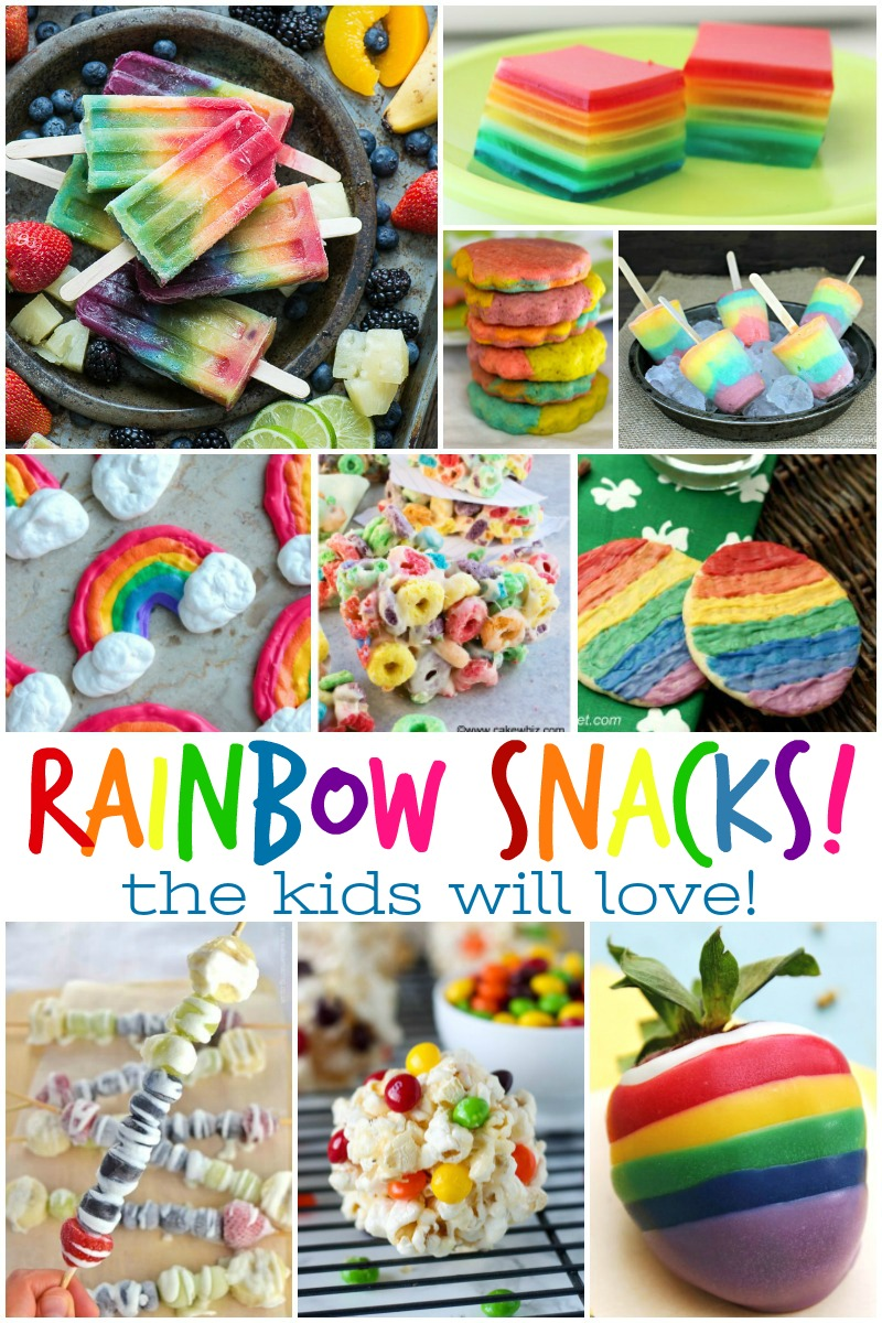Week 164 Rainbow Snacks for Kids from Busy Being Jennifer - OK lets be honest, not JUST the kids will be loving these tasty rainbow snacks and treats! There are some seriously AMAZING looking recipe in this collection of 25 rainbow snacks and I can't wait to give them a try!