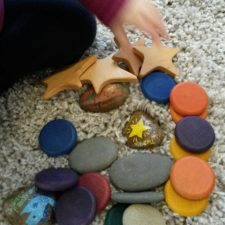 Fun 5 for Friday - fine motor, gross motor, hand eye co-ordination. Finger Gym, Puzzles, Grapat, Melissa and Doug, Stone are. Rock art. Pebbles. Early years play resources activities ideas.
